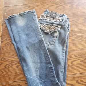 Miss Me studded blingy boot jeans size 26